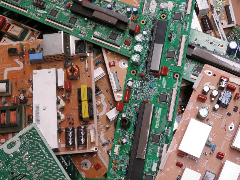 Placas eletrônicas usadas